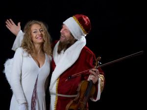 Engelchen und Weihnachtsmann
